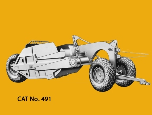 Caterpillar No. 491 scraper. Edgar Browning image