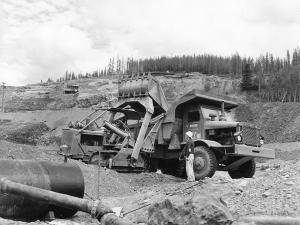 BESCO overshot loader on International Harvester TD crawler. Pit & Quarry