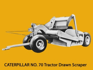 Caterpillar No. 70 scraper. Edgar Browning image