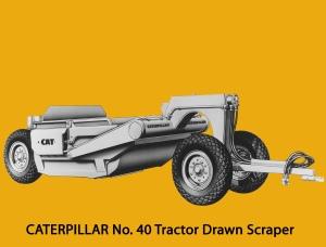 Caterpillar No. 40 hydraulic scraper. Edgar Browning image