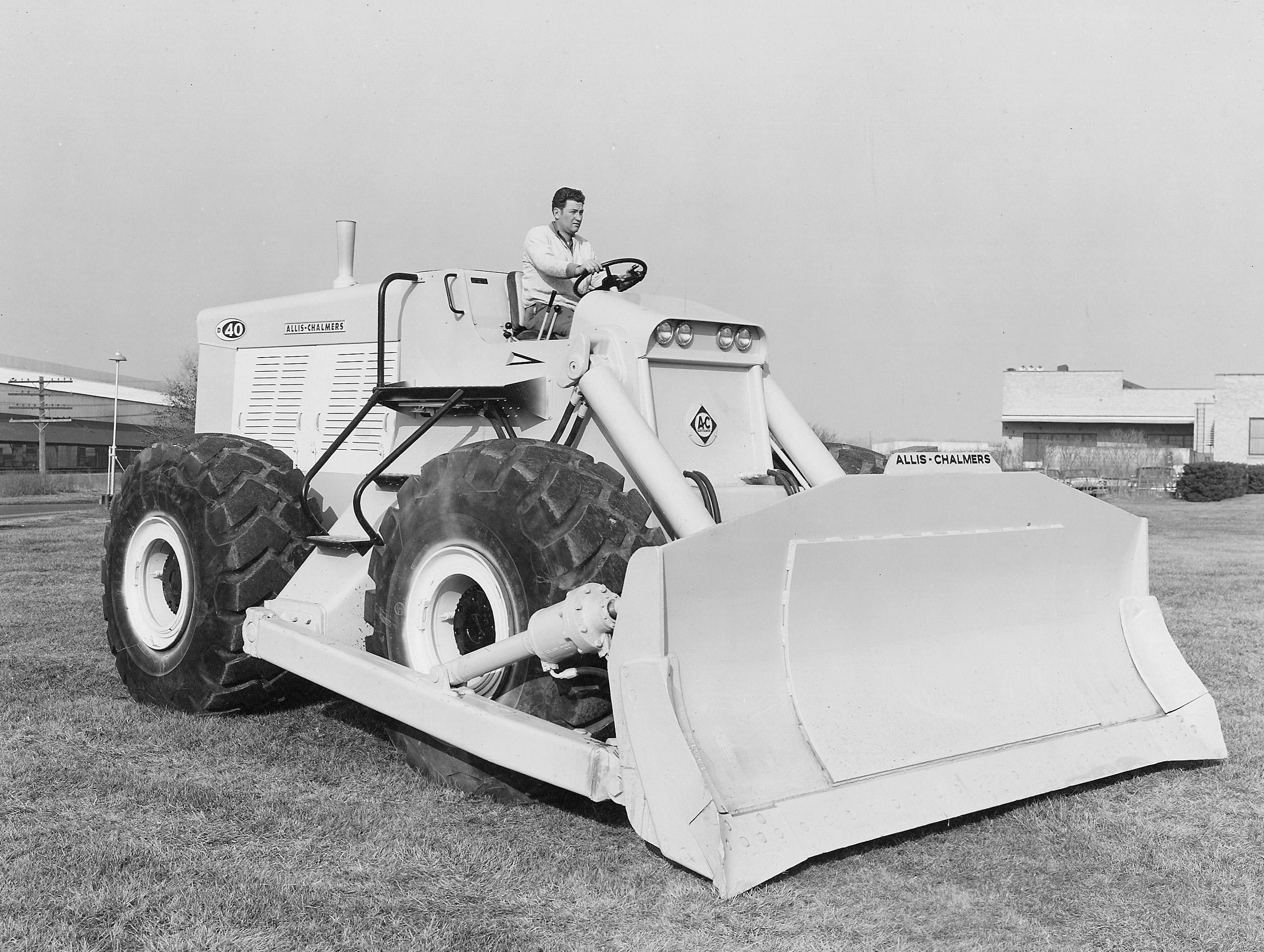 bulldozer caricatore cingolato combinazione Allis-chalmers-model-d-40-wheel-dozer-pit-quarry