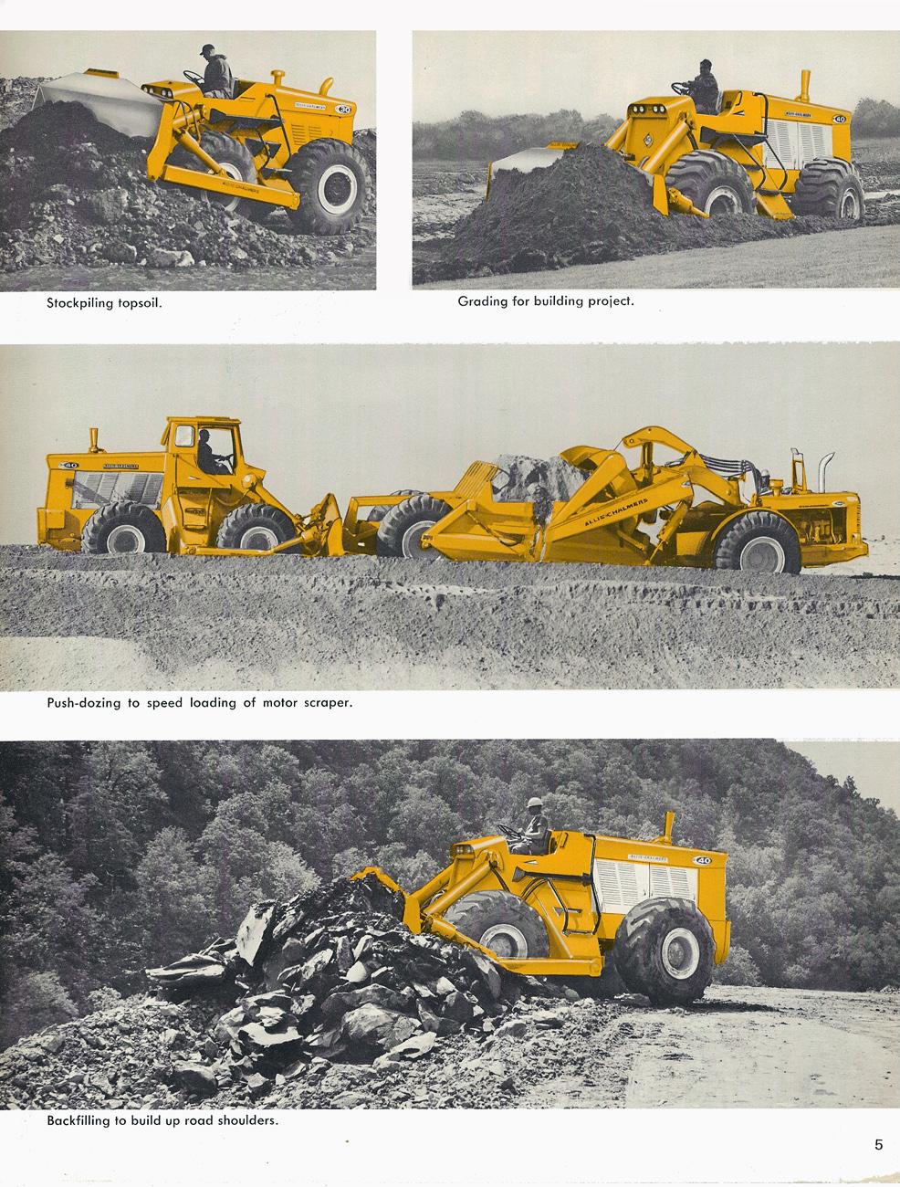 bulldozer caricatore cingolato combinazione Allis-chalmers-wheel-dozers-edgar-browning-image