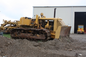 Baker 9X Dozer on an Allis-Chalmers HD-9 tractor, Lakeside Sand &Gravel, mantua, Ohio