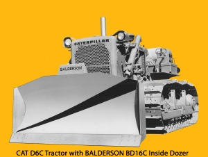 Balderson BD-16C inside-mounted blade on Caterpillar D-6C tractor, Edgar Browning Image