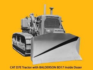 Balderson BD17 inside-mounted blade on Caterpillar D-7E tractor, Edgar Browning Image