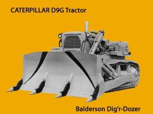 Balderson Dig'r-Dozer blade on Caterpillar D-9, Edgar Browning Image
