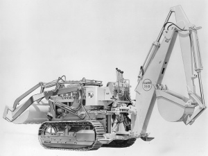 Case Model 310 backhoe on terratrac loader  (1956), Pit & Quarry