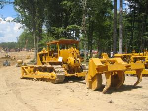 Caterpillar D-8 dozer (1950) & pulled ripper,  Brownsville, PA