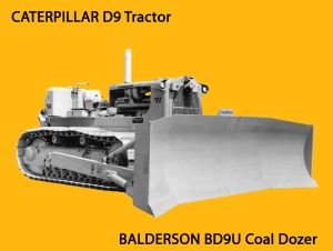 Caterpillar D-9 with Balderson coal dozer blade, Edgar Browning Image