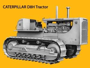 Caterpillar D8H tractor, Edgar Browning Image (2)