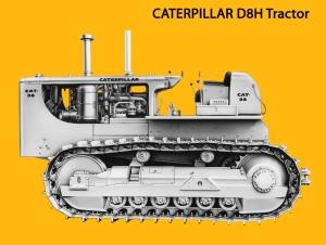 Caterpillar D8H tractor, Edgar Browning Image