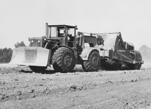 Caterpillar Model 830M wheel dozer & Curtiss-Wright CW-18M scraper, Caterpillar, Inc.