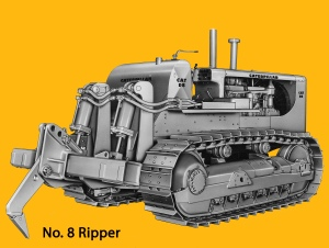 Caterpillar No. 8 hydraulic ripper on D-8H tractor, Edgar Browning Image