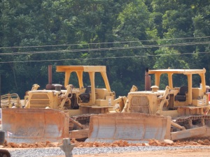 A pair of Caterpillar D-8H dozers, Harrisonburg, VA. Brady Harper photo