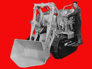 Eimco air-powered underground mine loader, Edgar Browning Image