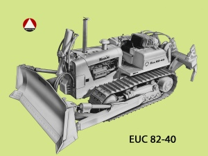 Euclid Model 82-40 dozer, introduced in 1966, Edgar Browning Image