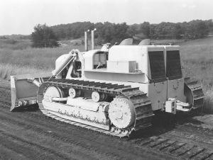 Euclid Model TC-12 dozer, early prototype model. Pit & Quarry
