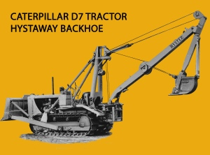 Hyster Hystaway backhoe on Caterpillar D-7 dozer, Edgar Browning Image