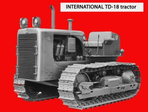 International Harvester TD-18 (Series 181) tractor, introduced in 1956, Edgar Browning Image