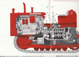 International Harvester TD-20 cutaway drawing