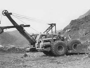 LeTourneau Model C wheel dozer, Pit & Quarry