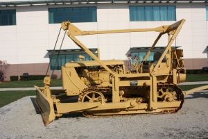 LeTourneau Type C angle dozer blade on a Caterpillar D-7, Wilmington, IL
