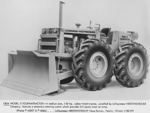 LeTourneau-Westinghouse Model D wheel dozer, Pit & Quarry