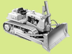 Terex 82-30 dozer, Pit & Quarry (2)