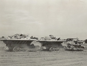 Tracked dump wagons & Caterpillar D-8 tractor, Edgar Browning Image (2)