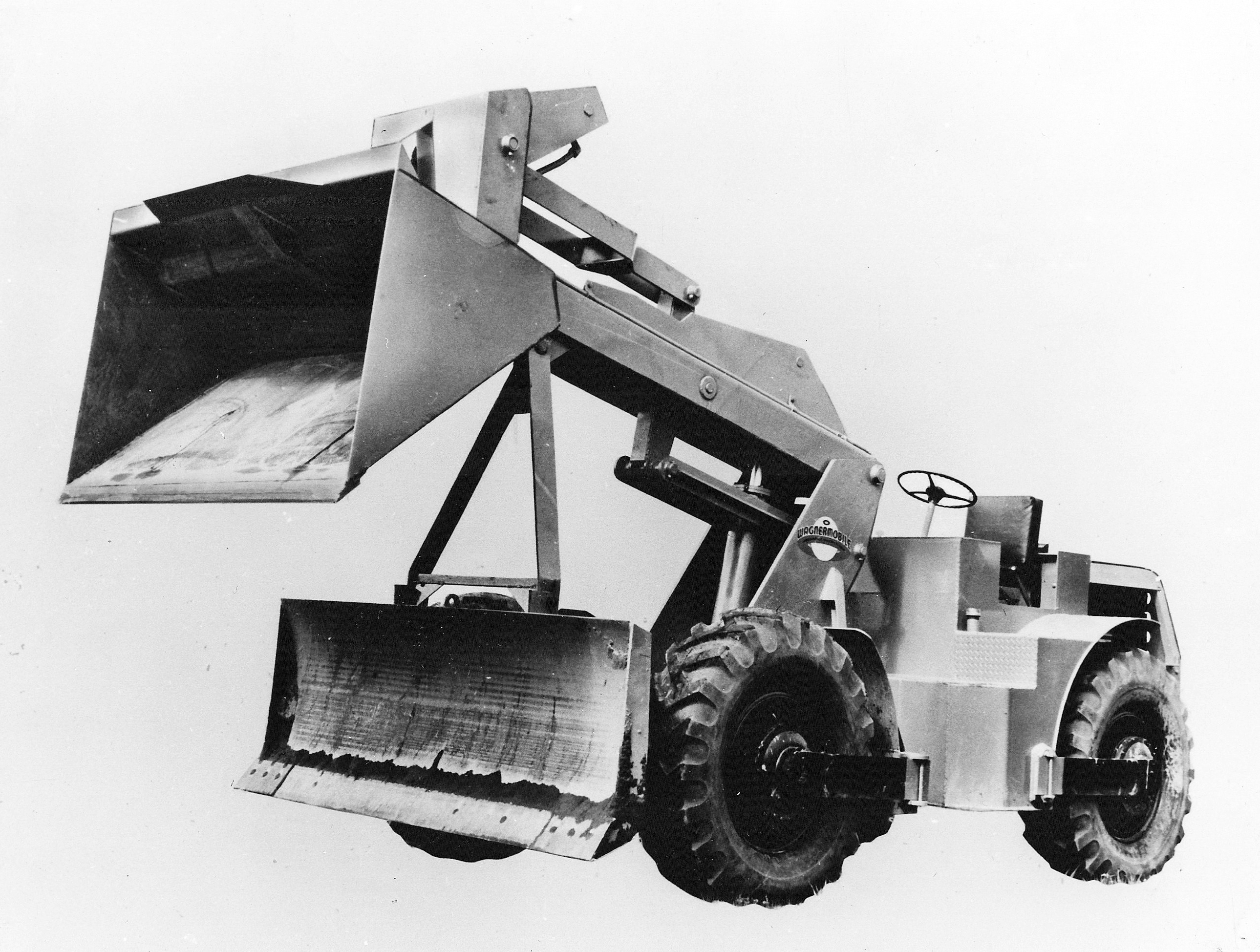 bulldozer caricatore cingolato combinazione Wagner-combination-wheel-dozer-and-loader-1953-pit-quarry